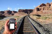 Navigating Desert Southwest with GPS — Stock Photo