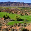 Stock Photo: Moab Desert Golf Course Panorama