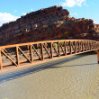 Stock Photo: Moab Mountain Bike Bridge across Colorado River