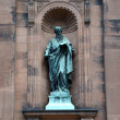Stock Photo: Saint Peter Statue outside historic Saint Peter and Paul Basilica