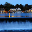 Stock Photo: PhiladelphiBoathouse Row at Twilight
