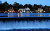 Philadelphia Boathouse Row at Twilight — Stock Photo