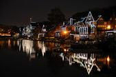 Philadelphia Boathouse Row at Night — Stock Photo
