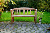Bench in a garden — Foto Stock