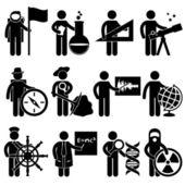 占星家化学家占星家制图员地理学家水手 — 图库矢量图片