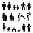 Happy Family Icon Sign Symbol - Stock Vector