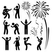 パーティー祝賀イベント祭 — ストックベクタ