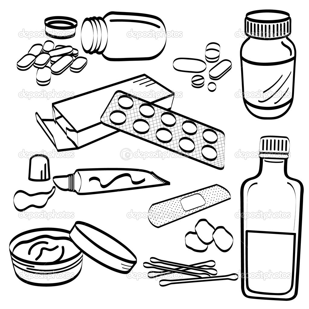 Medical medicine tablet pill doodle stock vector for How to draw a pill