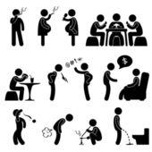 Złe zachowanie zły nawyk życia — Wektor stockowy