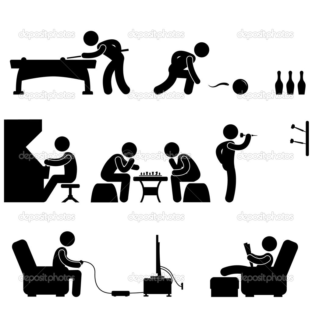 A set of pictogram about club and other leisure activity.  Stock Vector #7411596