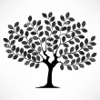 Tree With Leaf Pattern Texture — Vettoriali Stock