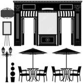 Business boutique shop mağazası — Stok Vektör