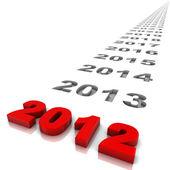 Year 2012 — Stock Photo
