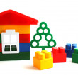 House constructed of toy blocks — Stock Photo #6850464