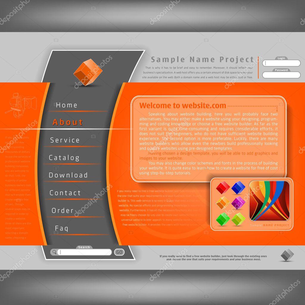vector website design template stock vector 7500020