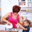 Making cake together — Stock Photo #7008099