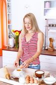 Woman at the kitchen — Stock Photo
