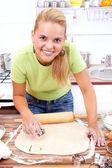 Fazendo bolo — Foto Stock