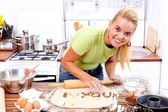 Love message in the kitchen — Stock Photo