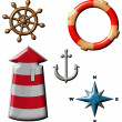 Marine set — Stock Photo