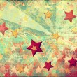 Grunge stars background - Stock Photo