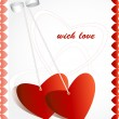 Vector de stock : Love greeting card