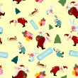 Royalty-Free Stock Imagen vectorial: Christmas tree with Santa Claus and gifts