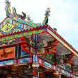 Grand Chinese Buddha Temple fully decorated — Stock Photo