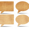 Stock Photo: Vintage speech bubbles