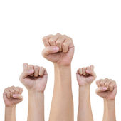 Group of hand and fist lift up high — Stock Photo