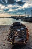 Relict in the beach of Cetara(salerno) Italy — Stock Photo