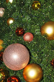 Christmas tree with balls — Stock Photo
