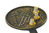Acupuncture needle with moxa cones — Stock Photo