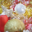 Christmas decoration with shiny glare — Stock Photo