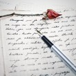 Love letter with a rose — Stock Photo #7066937