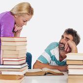 Teacher and student — Stock Photo