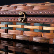 Stock Photo: Colorful wooden jewelry box