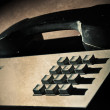 Royalty-Free Stock Photo: Old office push button phone complete with dirt!
