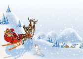 Christmas background with Santa Claus — Stock Photo