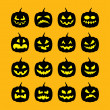 Pumpkins Halloween vector — Stock Photo