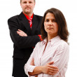 Man woman couple standing with folded arms — Stock Photo
