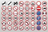 Traffic signs - Prohibit and restrict — Stock Vector