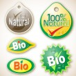 Natural and bio product labels — Stock Vector