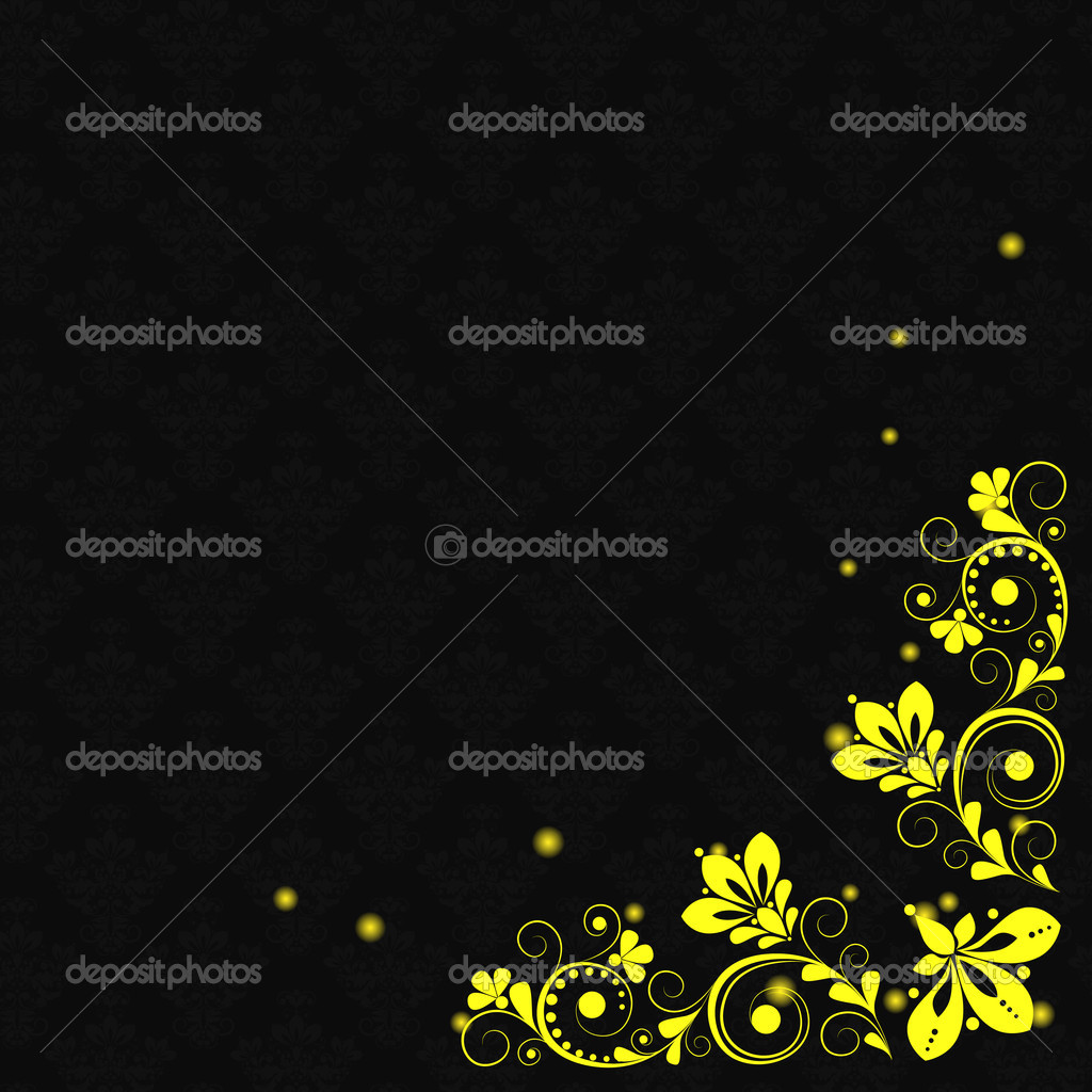 Vector vintage floral  background with decorative flowers for design — Stock Vector #7245124