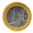 One euro coin - Stock Photo
