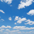 Blue sky with cloud closeup — Stock fotografie