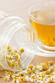 Tea from dried camomile closeup — Stock Photo
