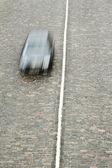 Single car drive on highway — Stock Photo