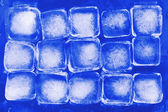 Blue ice cube close up — Stock Photo