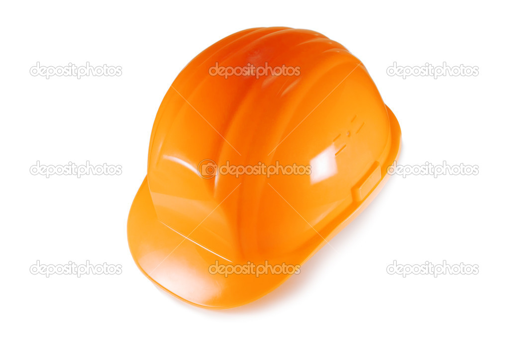 Orange helmet isolated on white — Stock Photo #7159534